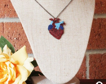 Anatomic Heart Pendant