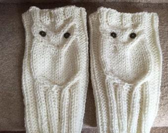 Adult Owl Boot Cuffs Pattern