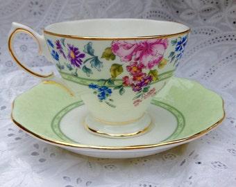 Royal Albert bone china cup and saucer - Hartington design