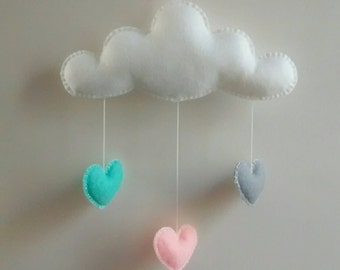Love Cloud Mobile 'ALEGRIA' - Ready to Ship! | Nursery Decor | Baby | Kids | It's Raining Love!