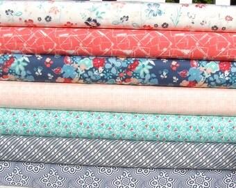 Nouvelle Fabric Bundle by Art Gallery, fat quarter bundle, online patchwork fabric Australia