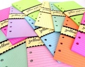PERSONAL Size Planner Notepaper 50 Sheets ~ Your choice of 23 colors and 7 patterns