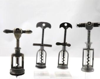 4 corkscrews with aluminium frame