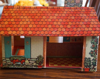 Vintage Winthrop Toy Instant Play House, Doll House, 1960s