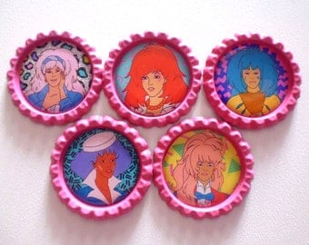 Jem and The Holograms Brooches/Magnets
