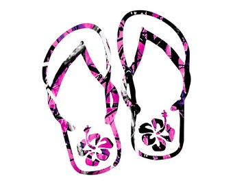 Flip Flops (Muddy  Camo)