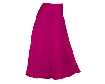 Readymade Cotton Petticoat/inskirt for saree, Pure Cotton Petticoats, Women Petticoats, High quality, Skirt Sari