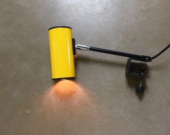 Cool LAD Swiss International yellow spot from 1966 - wall lamp - table lamp - vintage lighting - Schweiz - switzerland