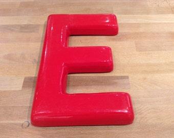 Vintage Letter 'E' - Red