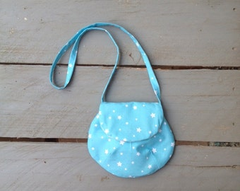 Bag fabric child bag blue white stars