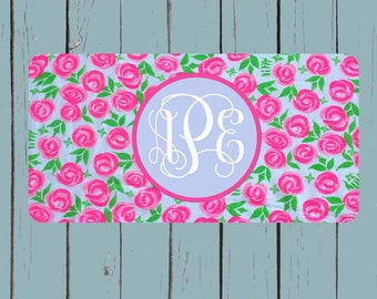 Lily Pulitzer Inspired License Plate-Monogram Car Tag Front License Plate Personalized Plate