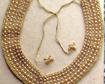 Vintage Pearl Collar with Ties