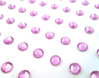 5mm Rhinestones, Purple Stick On Rhinestones