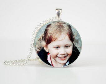 Photo Gift - Pendant Necklace - Photo Jewellery - Custom Necklace - Photo Necklace - Personalised Pendant - Jewellery Gift -Mothers day gift