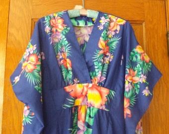 Free shipping, vtg Maxi floral dress, oversize maxi dress, floral dress