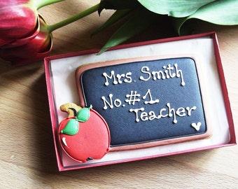 Personalised Chalkboard Cookie Teachers Gift