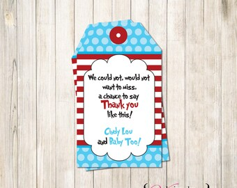 Dr Seuss Gift Tags, Gift Tags, Party Tags, Tags (Custom)