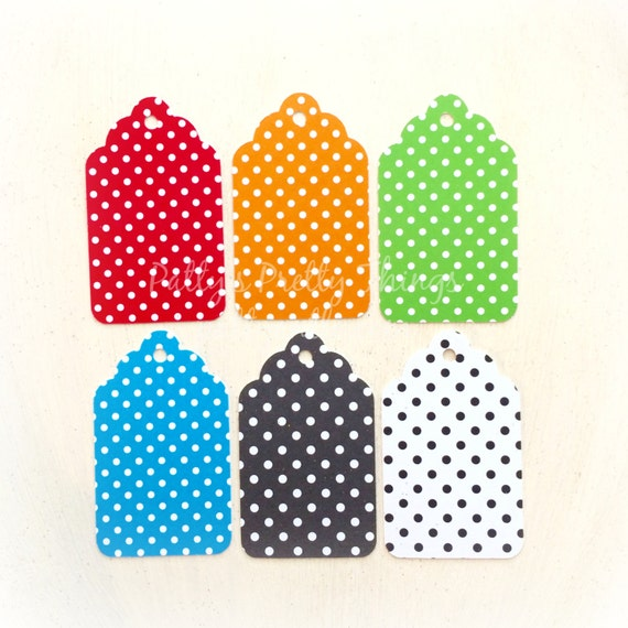 Polka Dot Tags Bright Colored Tags by PattyAntlesPrettys ...