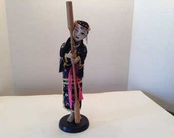 Vintage  Asian Ethnic Doll with Stick Soft Body