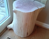 "Short Fat Cedar Stump Stool Table 12"" - 14"" wide - Custom Heights Available"