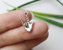 Own Charm~ Antique Silver Hand Charms Pendants Jewelry Accessories