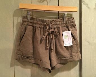 Mocha Linen Shorts