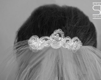 First Holy Communion Veil With Embellished Comb - Flower Girl Veil