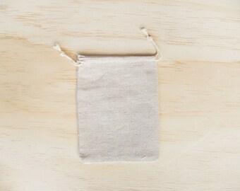 ONE // Burlap drawstring bag