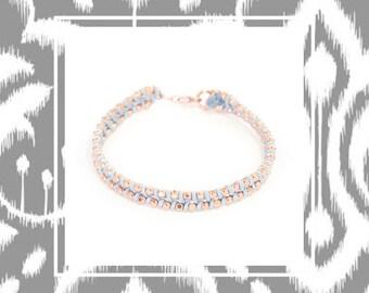 Sparkling rose gold bracelet