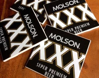 Molson XXX Beer Coasters