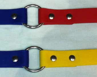 Sports TEAM Dayglo Biothane Dog Collar, ANY Color, School Colors, FREE Nameplate