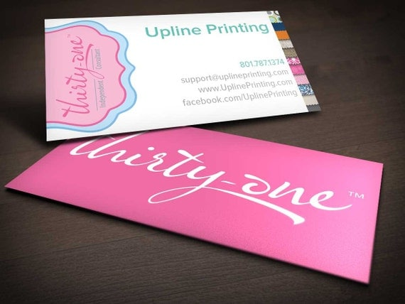 Shabby chic thirty one gifts business card by uplineprinting for Thirty one business cards vistaprint