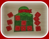 Turtle with Mask Tic-Tac-Toe Game, Travel, Gift, Birthday, Educational