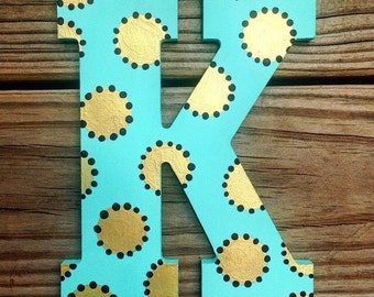 """8"""" Whimsy Dots Letter - Custom Colors"""