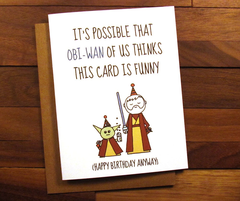 It is a picture of Delicate Star Wars Printable Birthday Cards