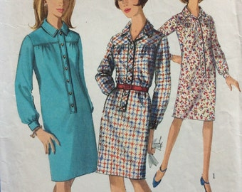 CLEARANCE!!  Simplicity 6626 vintage 1960's woman's shirtwaist dress sewing pattern size 12 bust 32