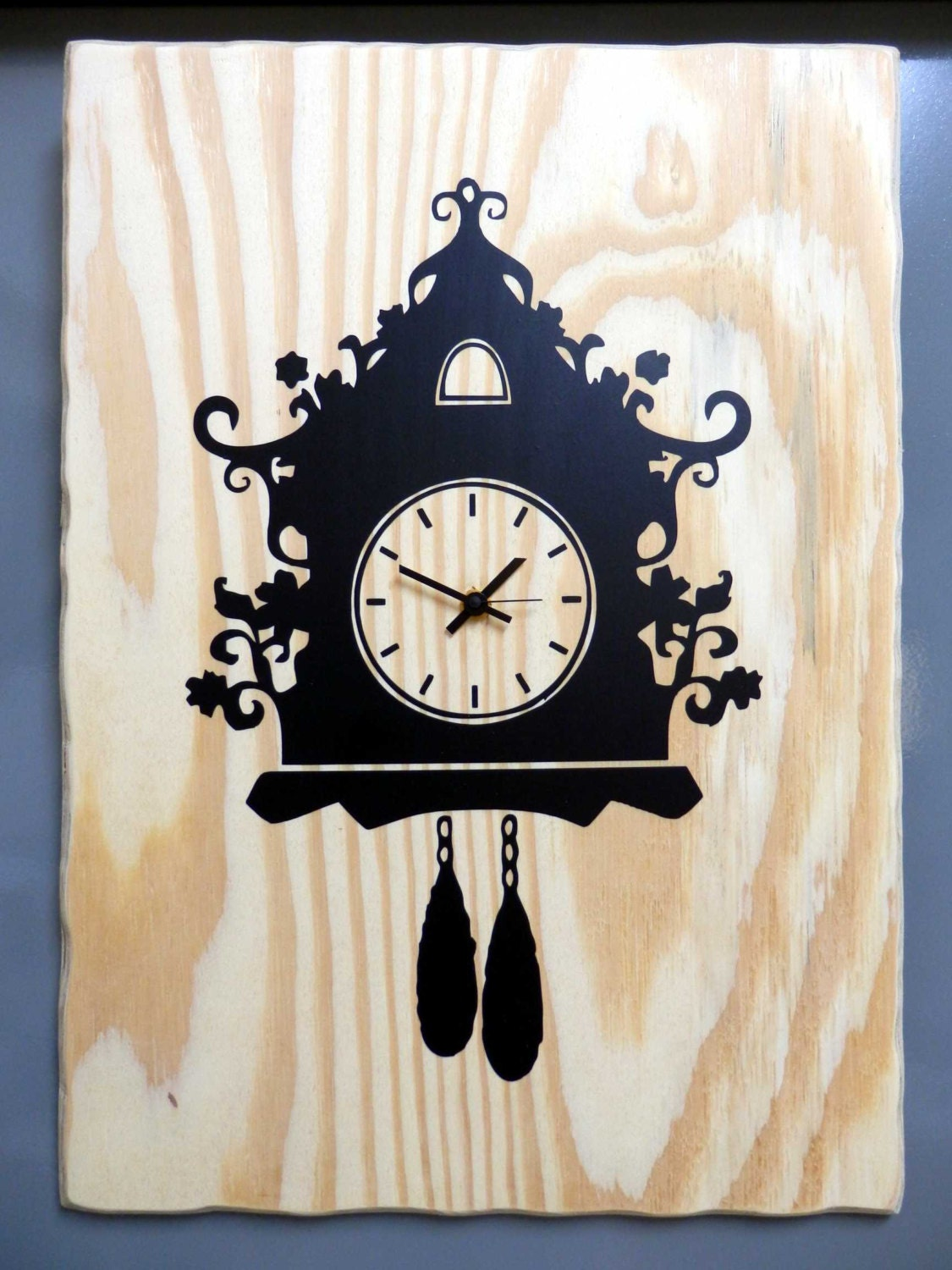 Cuckoo Clock Modern Wooden Wall Clock Unique Design