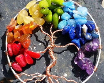 Shakra Rainbow Tree Necklace