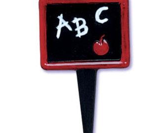 Blackboard Puffy Cupcake Picks