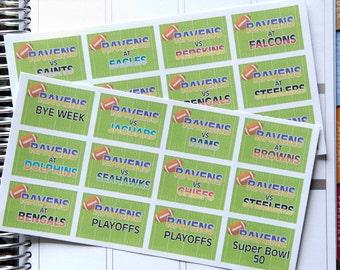 Pro Football Schedule Planner Stickers - 2017-2018 Season
