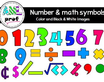 Numbers & Math symbols clipart