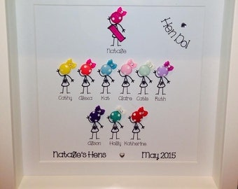 Personalised Family Button Pictures