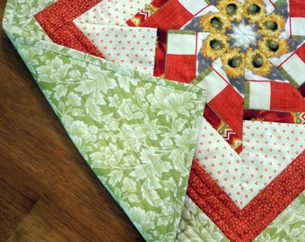Square Table Runner - Green Background