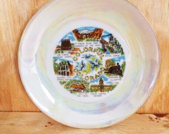 Colorado Tea Plate Vintage Collectible Kitsch