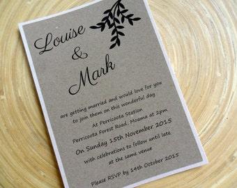 Kraft Rustic Wedding Invitation - Kraft Foliage