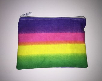 Rainbow zippered pouch