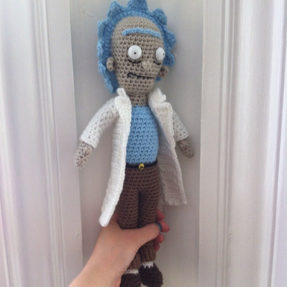 Amigurumi Rick And Morty : Rick from Rick and Morty. Crochet figurine.