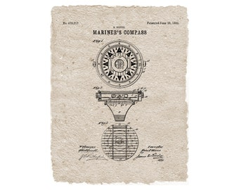 Mariner's Compass - Nautical Decor - Digital File