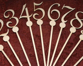 DIY Table Numbers, Wedding Table Numbers, Party Table Numbers,  DIY Brides ~ Numbers On A Stick, Wood Numbers For Floral Decor~ Weddings