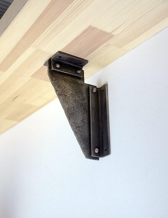 heavy duty rustic hand forged metal iron shelf brackets. Black Bedroom Furniture Sets. Home Design Ideas